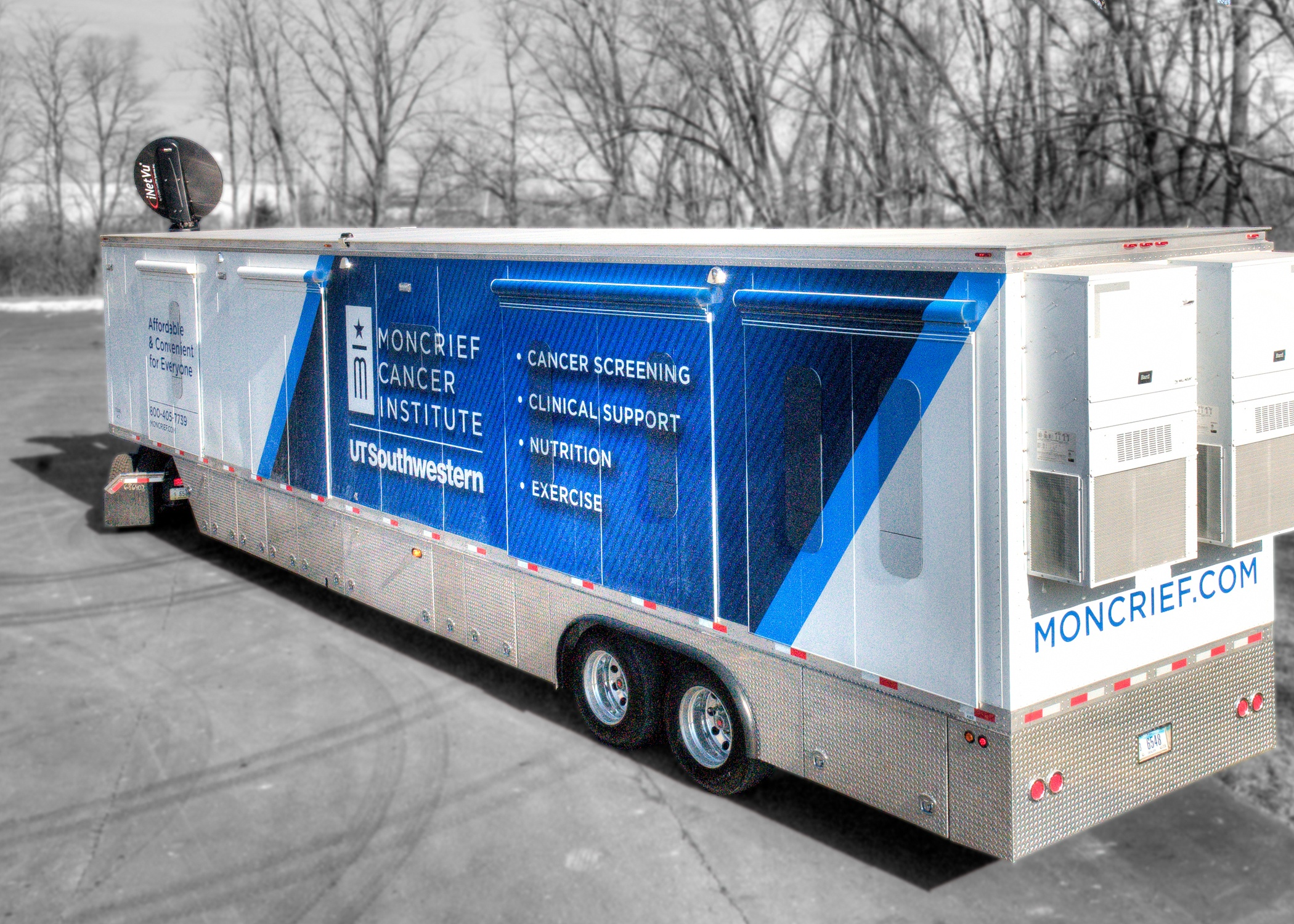 Moncrier Cancer Institute mobile mammogram unit
