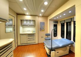 Mobile Health Clinic exam room